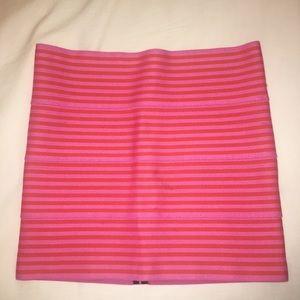 Pleasure Doing Business pink mini skirt